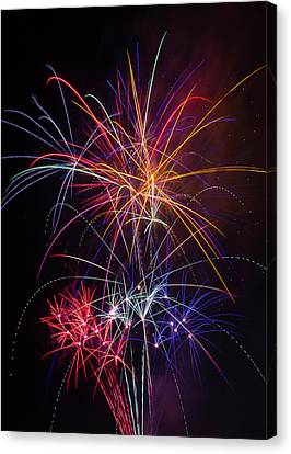 Star Spangled Fireworks Canvas Print by Garry Gay