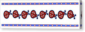 Star-spangled Lady Bugs Canvas Print by Methune Hively