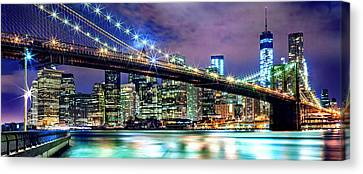 Shiny Canvas Print - Star Spangled Skyline by Az Jackson