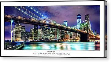 Jackson Canvas Print - Star Spangled Skyline Poster Print by Az Jackson
