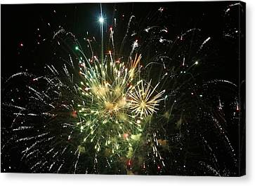 Star Spangling Fireworks Canvas Print