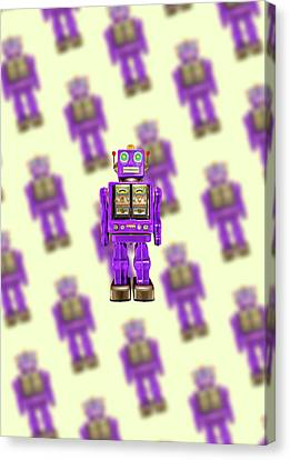 Star Strider Robot Purple Pattern Canvas Print by YoPedro