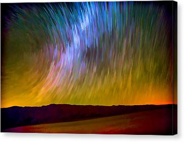 Star Trails Abstract Canvas Print by Peter Tellone