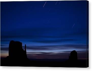 Star Trails Over The West Canvas Print by Andrew Soundarajan