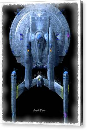 Curves Canvas Print - Star Trek Enterprise Top by Leonardo Digenio