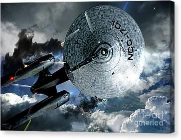Star Trek Into Darkness, Original Mixed Media Canvas Print by Thomas Pollart