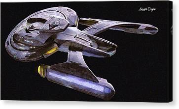 Star Trek Luna Canvas Print by Leonardo Digenio