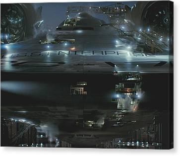Star Trek Canvas Print - Star Trek by Mery Moon