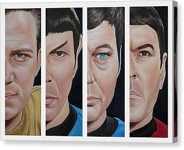 Star Trek Set One Canvas Print by Vic Ritchey