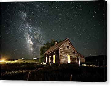 Star Valley Cabin Canvas Print