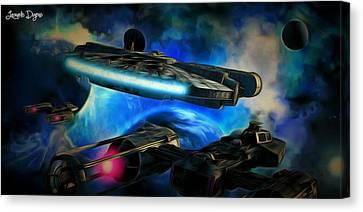 Star Wars Approaching Canvas Print by Leonardo Digenio