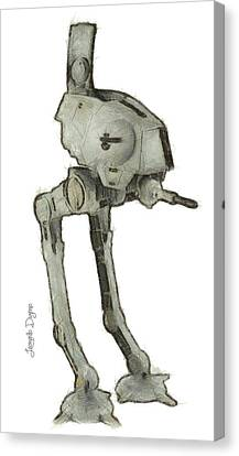 Star Wars Assault Robot - Da Canvas Print by Leonardo Digenio