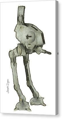 Star Wars Assault Robot Canvas Print by Leonardo Digenio