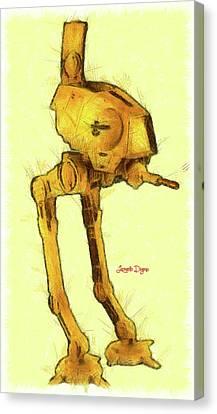 Star Wars Assault Walking Robot Canvas Print
