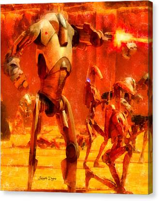 Star Wars B2 Battle Droid  - Aquarell Style -  - Da Canvas Print by Leonardo Digenio