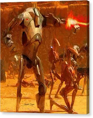 Star Wars B2 Battle Droid  - Free Style -  - Da Canvas Print by Leonardo Digenio