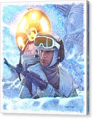 Ray Canvas Print - Star Wars Battle Of Hoth  - Watercolor Style -  - Da by Leonardo Digenio