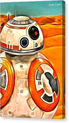 Star Wars Bb-8 Canvas Print by Leonardo Digenio