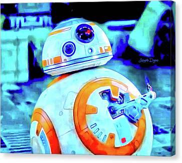 Star Wars Bb-8 Thumbs Up - Vivid Aquarell Style Canvas Print
