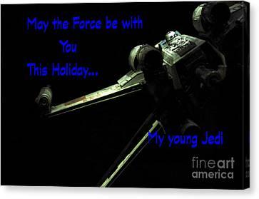 Star Wars Birthday Card 5 Canvas Print by Micah May