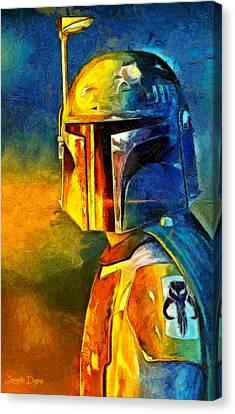 Apprentice Canvas Print - Star Wars Boba Fett Warrior - Da by Leonardo Digenio