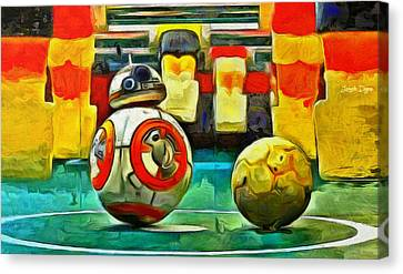 Star Wars Brothers - Da Canvas Print by Leonardo Digenio