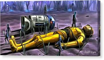 Star Wars - Captured - Da Canvas Print by Leonardo Digenio