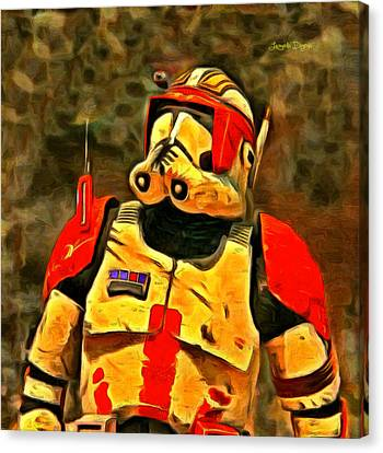 Star Wars Clone Commander - Da Canvas Print by Leonardo Digenio