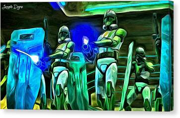Star Wars Clone Trooper - Da Canvas Print