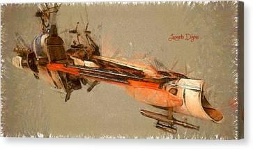 Star Wars Combat Speeder - Da Canvas Print by Leonardo Digenio