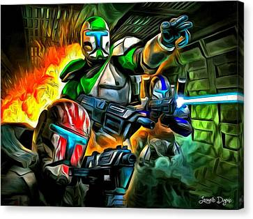 Star Wars Commando 2 - Da Canvas Print by Leonardo Digenio