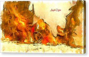 Star Wars Crash - Da Canvas Print by Leonardo Digenio
