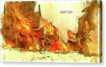 Star Wars Crash Canvas Print by Leonardo Digenio
