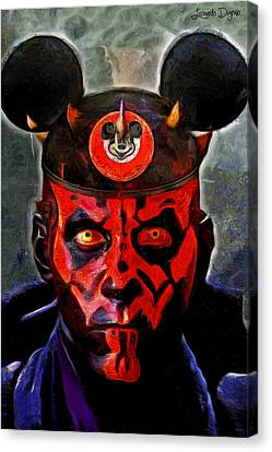 Star Wars Darth Maul Mouse Canvas Print