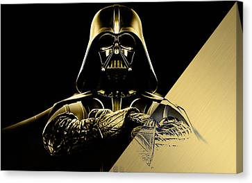 Movie Stars Canvas Print - Star Wars Darth Vader Collection by Marvin Blaine