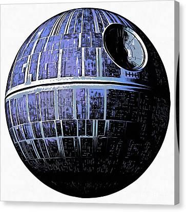 Star Wars Deathstar Graphic Canvas Print by Edward Fielding