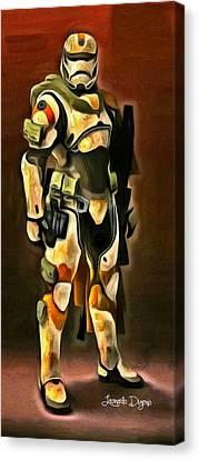 Star Wars Desert-ops Stormtrooper - Da Canvas Print by Leonardo Digenio