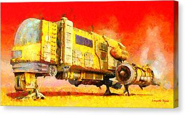 Star Wars Desert Transport Ship - Pa Canvas Print