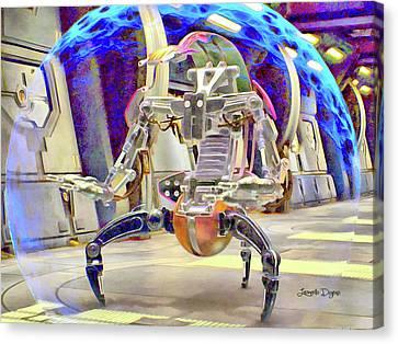 Star Wars Destroyer Droid - Aquarell Vivid Style Canvas Print