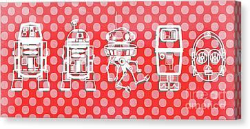 Star Wars Droids Mug Canvas Print by Edward Fielding