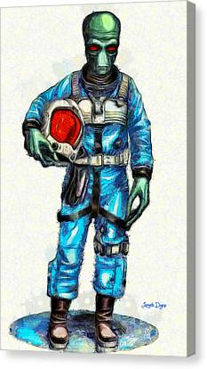 Star Wars Duro Pilot - Pa Canvas Print by Leonardo Digenio
