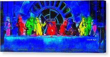 Star Wars Empire Last Supper 2 - Da Canvas Print by Leonardo Digenio