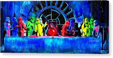 Star Wars Empire Last Supper - Da Canvas Print by Leonardo Digenio