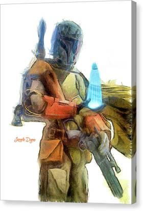 Star Wars Execute The Order - Pencil Style Canvas Print by Leonardo Digenio