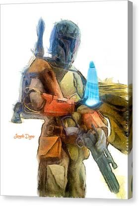 Fett Canvas Print - Star Wars Execute The Order  - Pencil Style -  - Da by Leonardo Digenio