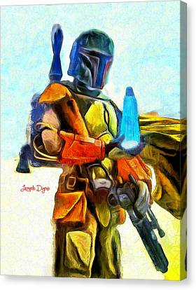 Star Wars Execute The Order  - Van Gogh Style -  - Da Canvas Print