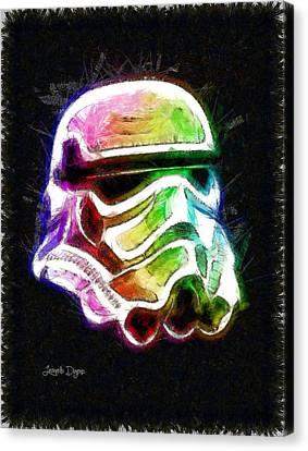 Stylized Canvas Print - Star Wars Helmet - Da by Leonardo Digenio