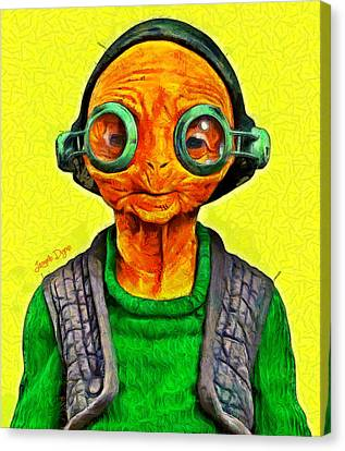 Star Wars Maz Kanata - Pa Canvas Print