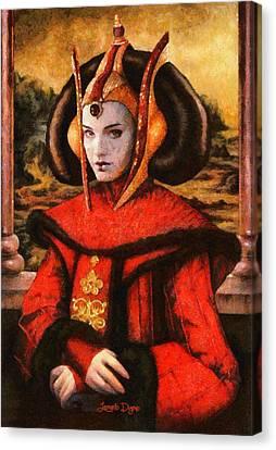 Star Wars Queen Amidala Classical - Da Canvas Print by Leonardo Digenio