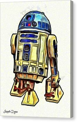 Star Wars R2d2 Droid - Da Canvas Print by Leonardo Digenio